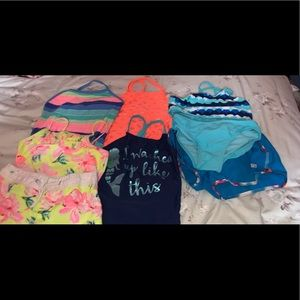 Lot of girls bathing suits